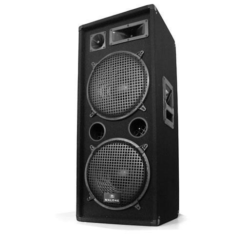 Auna PW-2222 PA DJ 3-pásmový reproduktor 2 x 30 cm 1000 W