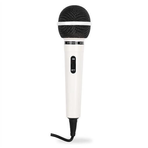 Auna microphone de chant et de parole - blanc
