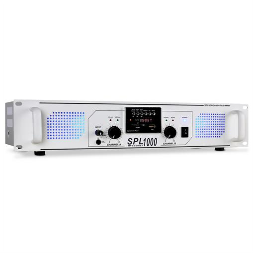 Skytec Ampli PA  SPL-1000 USB-SD-MP3 2800W Blanc