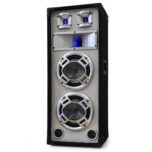 Skytec Enceinte Sono Passive DJ PA 3 Voies 2x20cm 600W