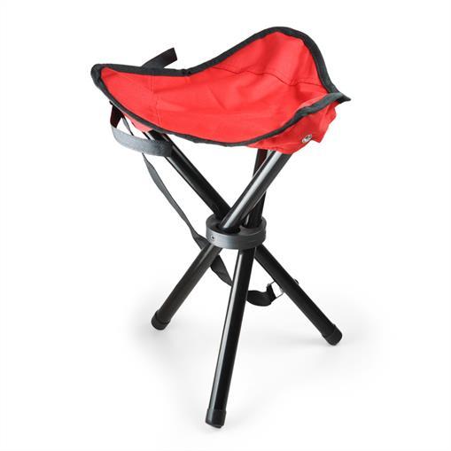 Chaise de camping pêche trépied mobile rouge noir 500g