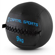 Capital Sports Epitomer Wall Ball -kuntopallo 9 kg keinonahka 5 kpl musta