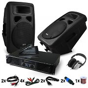 """Bass Blast Force""- Set DJ PA Amplificador, Altavoces 1600W"