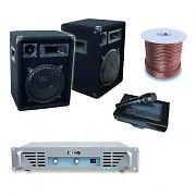 DJ PA Verstärker 800W 2x Boxen 1x Verstärker 1x Mikrofon