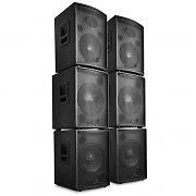 """Malone  DJ PA Aktiv Boxen Set """"Pharos"""" 6 Teile 7200W"""