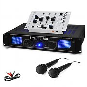 "SET DJ ""DJ-96"" PA HiFi ampli mixer 2 micros 1600W"