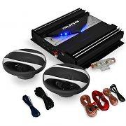 auna Car Hifi Set `Black Line 200`Boxen Eindtrap 1400W