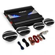"""auna 4.0 Car Hifi Set """"Black Line 420"""" ampli + 4 enceintes pour voiture"""
