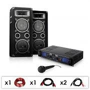 "Equipo PA ""DJ-25"" ampli, altavoces, micrófono, 1600W"