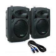 """Ibiza SLK Paar PA-Boxen 2x 20CM (8"""") Master Slave 600W USB SD MP3"""