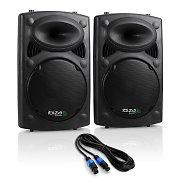 """Ibiza SLK Paar PA-Boxen 2x 38CM (15"""") Master Slave 1500W USB SD MP3"""