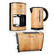 Klarstein Bamboo Garden frukostset kaffemaskin vattenkokare brödrost