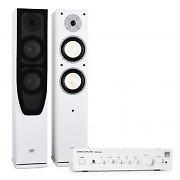 Koda White Hifi Heimkino-System Verstärker & Design Boxen weiß