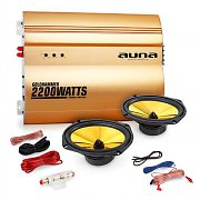 "Auna 2.0  ""Golden Race V3"" Set HiFi coche amplificador altavoces"