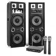 "Karaoke-setti ""STAR-210A"" PA-kaiuttimet radiomikrofoni-setti 80W RMS / 160 W max"