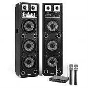 "Karaoke maskin ""STAR-238A"" PA högtalare med trådlös mikrofon Set 100W RMS / 200W"