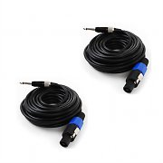 2 x câbles 10m PA FrontStage vers Jack 6,35mm