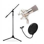 Podium- en studio microfoonset CM001S met microfoon, statief en microfoonafscherming