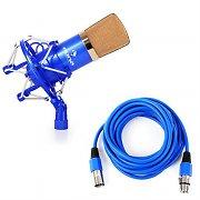 auna CM001BG Studio-Mikrofon blau/gold XLR Kondensator mit 6m Kabel
