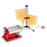Klarstein pastasetti Siena pastakone punainen & Verona pastan kuivausteline