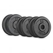 CAPITAL SPORTS IPB 20 kg Set Gewichtsscheibenset 4 x 2,5 kg + 2 x 5 kg 30 mm