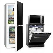 Klarstein Luminance setti pakastin-jääkaappiyhdistelmä mikroaaltouuni astianpesukone
