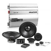 auna Silverhammer Car-HiFi-Set | Complete luidsprekerset | 2-Kanaals eindtrap
