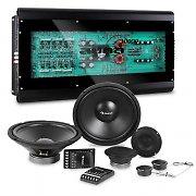 auna CS-Comp-12 Car-HiFi-Set | Altifalantes | Amplificador de 6 Canais 6x160 W