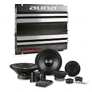 auna CS-Comp-8 Set HiFi tuning voiture kit  enceintes & amplificateur 2 canaux