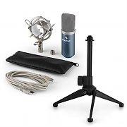 auna MIC-900BL USB mikrofonisetti V1 | sininen kondensaattorimikrofoni | pöytäpidike