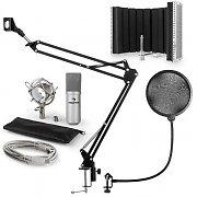 auna MIC-900S USB microfoonset V5 condensator plopbescherming microfoonscherm & arm - zilver