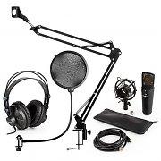 auna MIC-920B USB set de micrófonos V4 auriculares de estudio, micrófono de condensador  +  brazo de micrófono protección anti POP