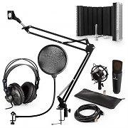 auna MIC-920BL USB set de micrófonos V5 auriculares de estudio  brazo de micrófono protección anti POP escudo