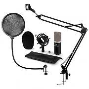 auna CM003 Mikrofon-Set V4 Kondensatormikrofon XLR Mikroarm POP-skydd svart