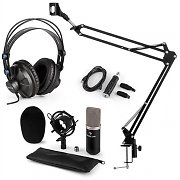 auna CM003 Juego de micrófono V3 Micrófono de condensador Convertidor USB Auriculares negro