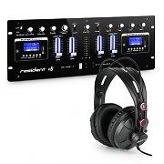 resident dj DJ405USB-BK 4-Kanal-DJ-Mischpult inkl. Studiokopfhörer