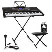 Schubert Etude 225 USB Inlärnings-keyboard med Hörlurar, Keyboard-stativ & sittbänk