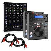 "Elektronik Star DJ Set ""CD DJ Starter"" - 4 Kanal Mixer 2xCD-Player 2xCinch Kabel"