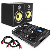 "Electronic Star DJ Set  ""Starter Control"" DJ-Controladora altavoces 2x cable RCA"