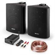 """PA HiFi set """"Bluetooth Play BK"""" set van 2 luidsprekers mini-bluetooth versterker incl. kabel"""