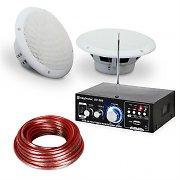 """Set de sonido de 6,5"""" para terrazas y baños Amplificador de alta fidelidad Altavoz 4 uds Impermeable"""