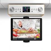"""auna Connect Soundchef radio de cocina con soporte para tableta DAB+ FM 2 x 3"""" - altavoces haya"""