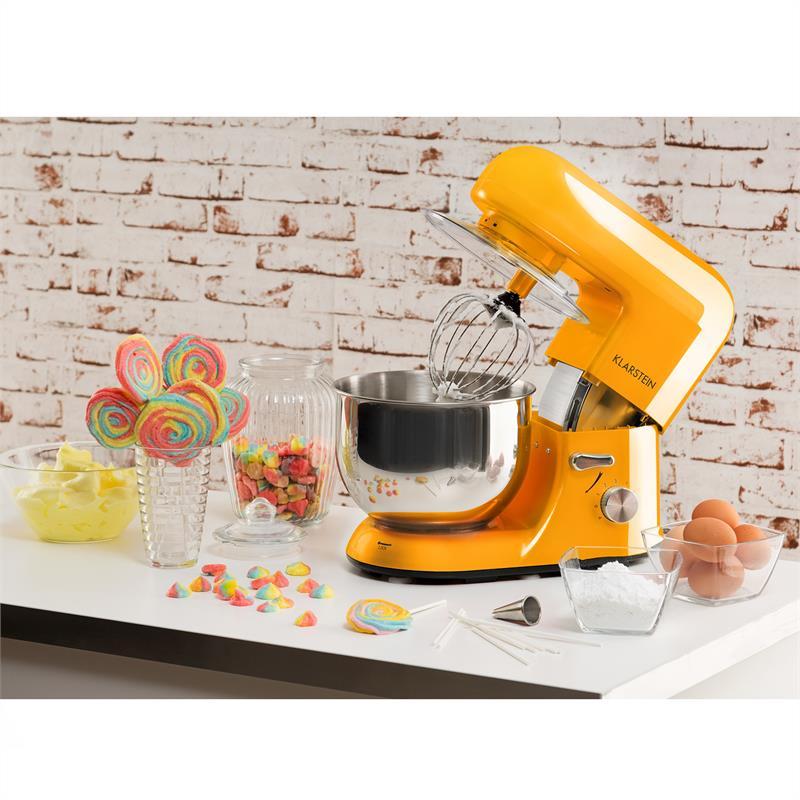 Robot-menager-mixeur-cuisine-multifonction-Crochets-Petrin-Fouet-Bol-inox-1200W miniature 2