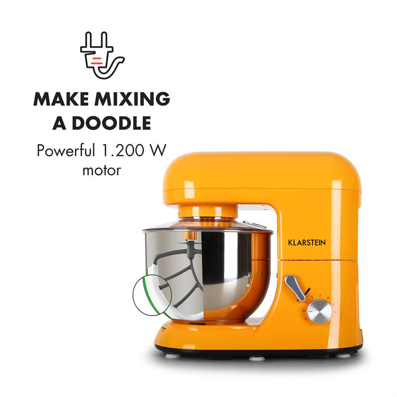 Robot-menager-mixeur-cuisine-multifonction-Crochets-Petrin-Fouet-Bol-inox-1200W miniature 3