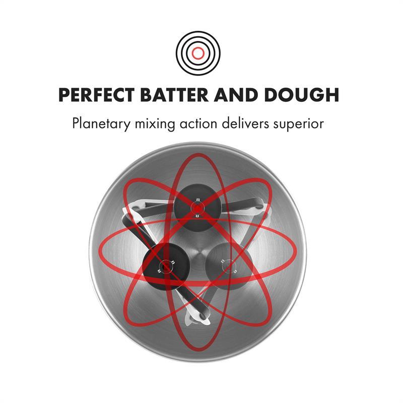 Robot-menager-mixeur-cuisine-multifonction-Crochets-Petrin-Fouet-Bol-inox-1200W miniature 4