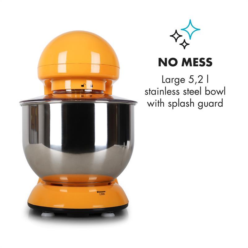 Robot-menager-mixeur-cuisine-multifonction-Crochets-Petrin-Fouet-Bol-inox-1200W miniature 6