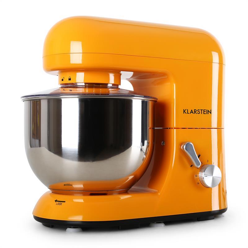 Robot-menager-mixeur-cuisine-multifonction-Crochets-Petrin-Fouet-Bol-inox-1200W miniature 8