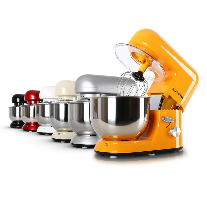 Robot ménager mixeur cuisine multifonction Crochets Pétrin Fouet Bol inox 1200W
