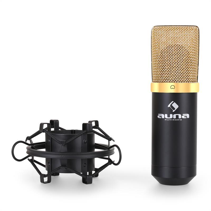 Microfono-Condensatore-Studio-Registrazione-USB-Canto-Cardioide-Dorato-48-kHz