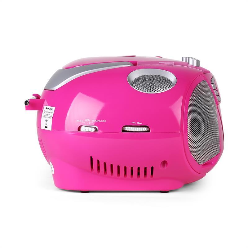 Super Auna Krisskross Kinder Kassetten Mp3 Cd Radio Musik Boombox Pink